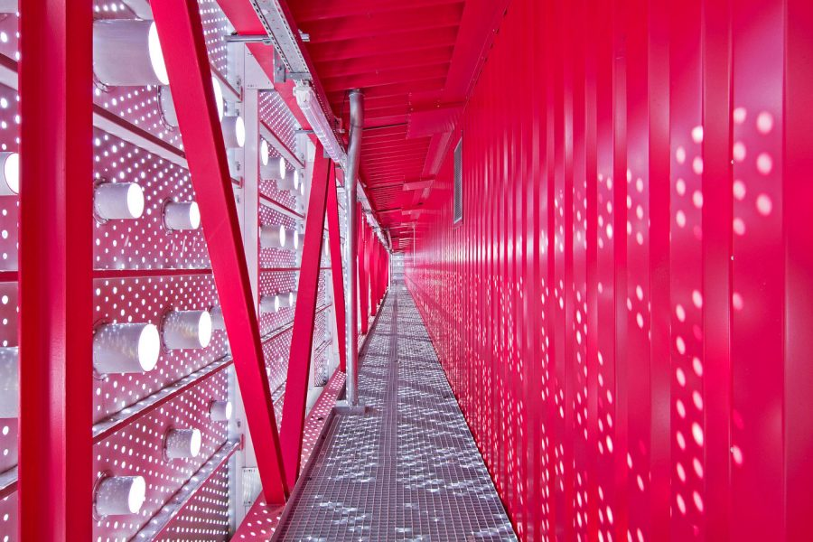 :envihab – Fassadenumgang im Technik-Dach